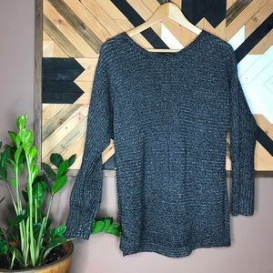 Ana A New Approch Pullover Sweater Gray Black